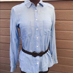 LOFT denim button-down shirt